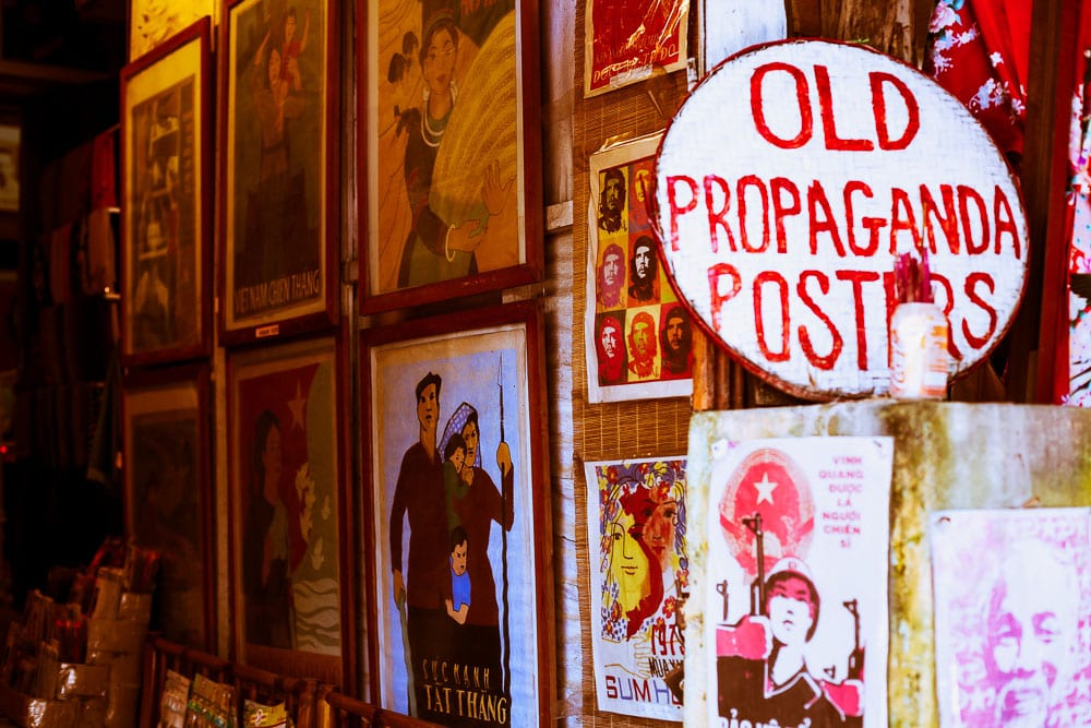 Old war propaganda shops