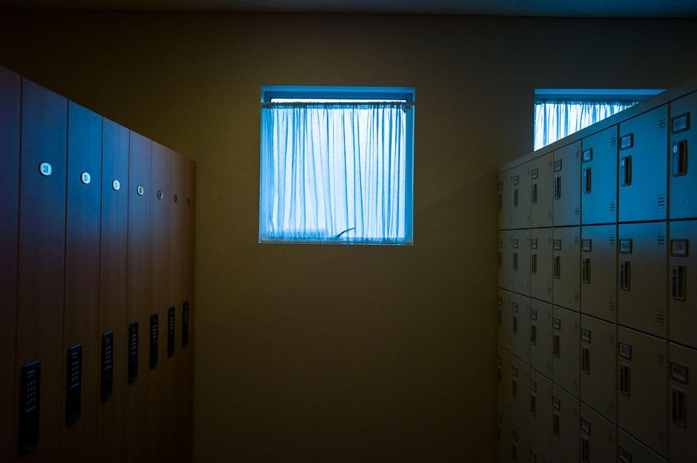 Lonely locker room at The Okura