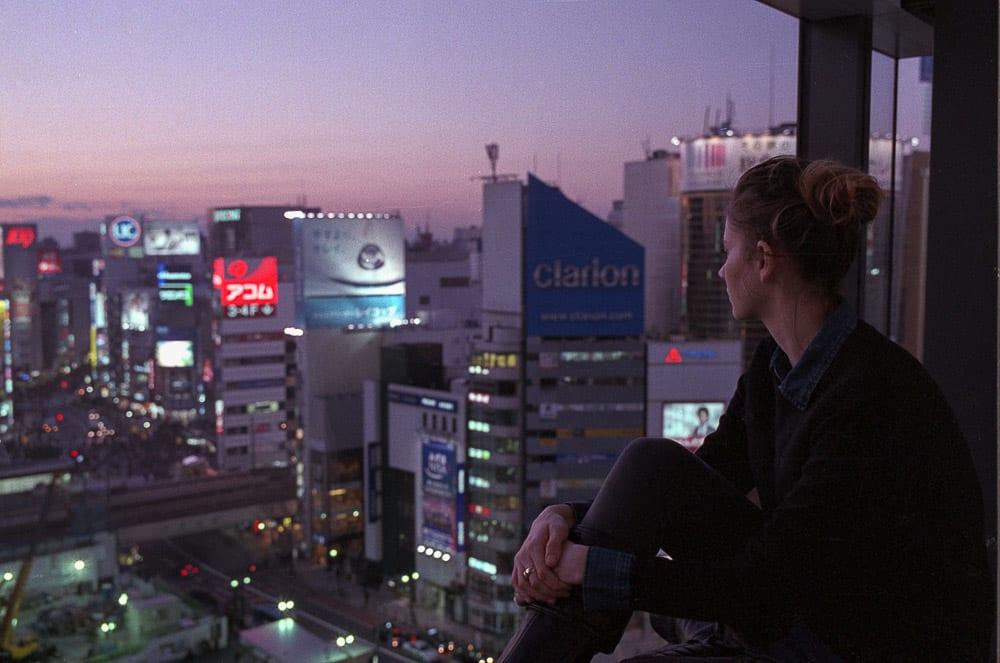 Looking over Shibuya Tokyo