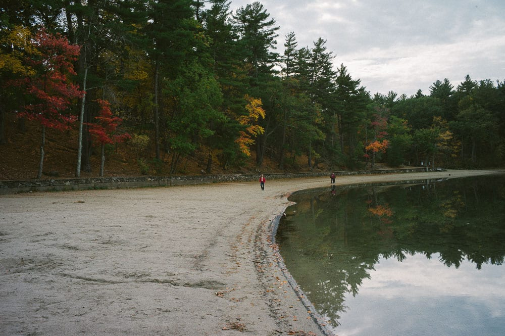 Walking along Walden Pond