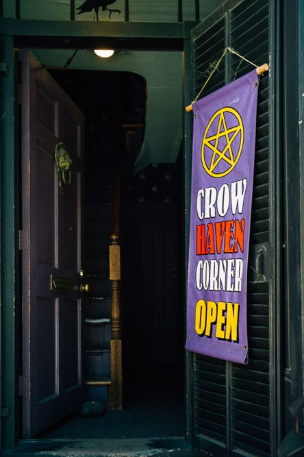 Crow Haven is the other major spell shop. It has a lighter feel and they offer mojo bags etc