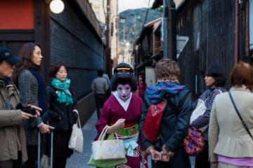 Geisha hunting in Kyoto