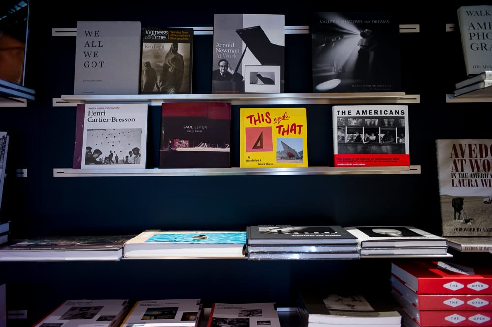 A shelf of classics at Leica store San Francisco