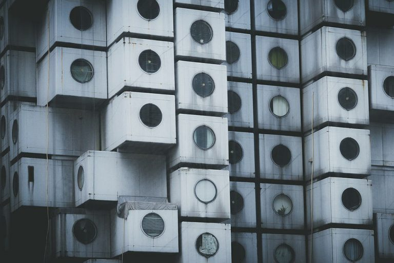 The Nakagin Capsule Tower | Visiting Tokyo's Metabolism Architecture